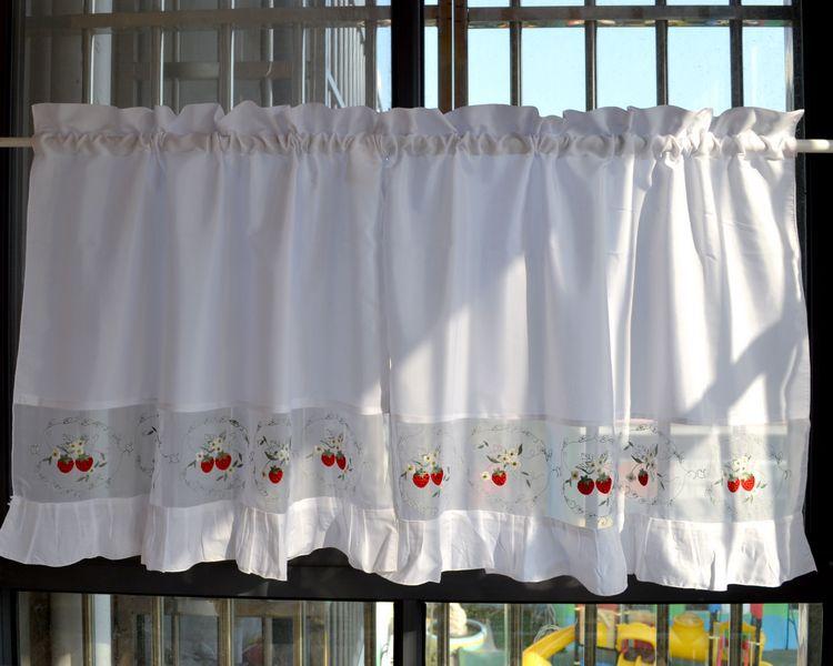 Вышитые шторы на кухню своими руками 37