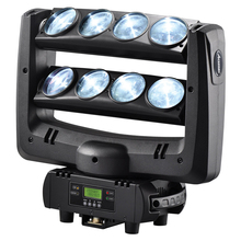 Buy American DJ LED spider moving head beam wash light 8x10W RGBW 4in1 White stage lighting100W multi-color change DMX controller for $280.00 in AliExpress store