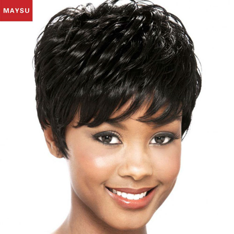 New Arrival Hand Tied Glueless Full Lace Human Hair Wigs Pure Crocheted Short Curly Human Hair Wigs For Black Women DHL Free<br><br>Aliexpress