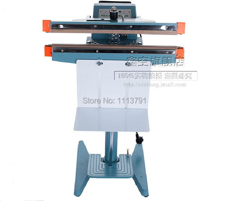 Foot Pedal Impulse Sealer ,heat sealing machine,Plastic Bag sealer, double-sided heat sealing machine ,Sealing Length 450mm(China (Mainland))