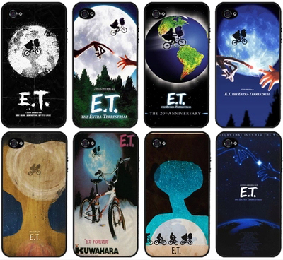 E.T. the Extra-Terrestrial UFO fashion mobile phone case cover for iphone 4 4S(China (Mainland))