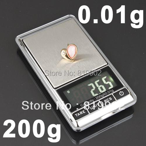 1PCS High Precision 200g X 0.01g Electronic Digital Pocket Weight Jewelry Mini Balance Scale