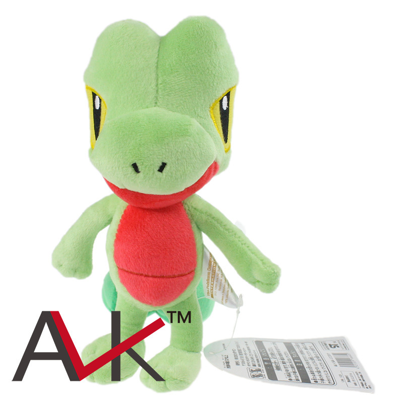 18cm Treecko Japan Anime plush toys Pokemon Plush Toys Treecko New Fashion Cartoon Plush Toys(China (Mainland))