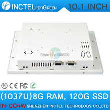 Touch screen All in one pc desktop computer with White Color 1037u processor Windows linux 8G RAM 64G SSD(China (Mainland))