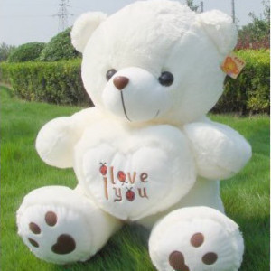 Birthday gift plush toy Large bear holding heart doll about 55cm  teddy bear doll toy t8563