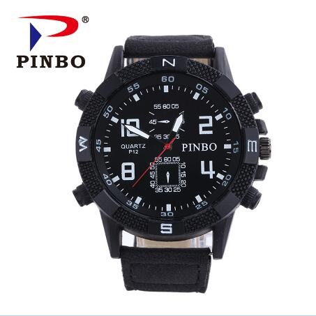 New-PINBO-Brand-Men-Big-Dial-Casual-Quartz-Watch-Men-Fabric-Mixed-color-Leather-Strap-Military (4)