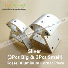 3D Printer Accessories Set Full Metal Kossel Aluminum Alloy Delta Set Big And Small Corner Pieces Aluminum Alloy Base