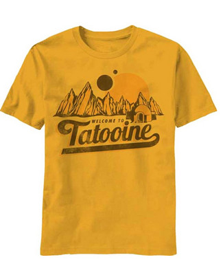Star Wars Welcome to Tatooine Men\'s Gold T Shirt
