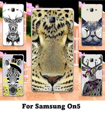 Colorful Aniaml Painting Case For Samsung Galaxy On5 G5500 O5 With Secret GardenOwlDogTigerZebraHarajuku Phone Skin