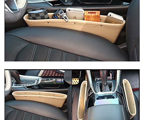 2pcs Car Seat Organizer Car Storage Organizer High Quality Car Bag Box Car Seat Gap Slit Pocket Holder Free Shipping(China (Mainland))