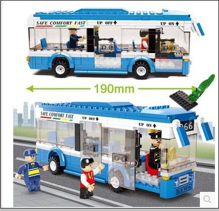 2015 New Building Block Toy City Bus Construction Sets DIY Educational Bricks Toys for Children Compatible Blocks Free Shipping(China (Mainland))