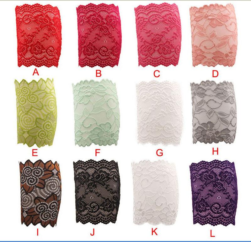2016 hot sale women girls lace leg warmers elastic lace flower design leg warmers lace trim toppers boot knee socks cuffs(China (Mainland))