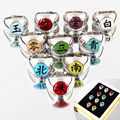 10pcs set Naruto Akatsuki Alloy Ring Set Pein Uchiha Itachi Ring Action Figures Japanese Anime Cosplay
