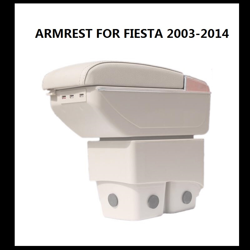 BIGGER SPACE&LUXURY Car armrest box central Store content box with cup holder&LED suitable for Fiesta 2003-2014 ARMREST(China (Mainland))