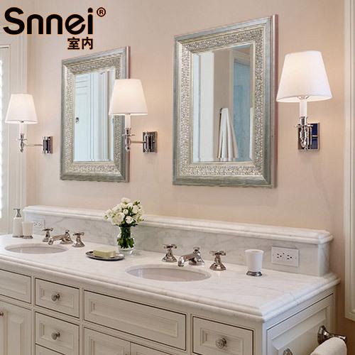 Stile europeo e americano rustico bagno specchio cosmetico - Mobili stile americano ...