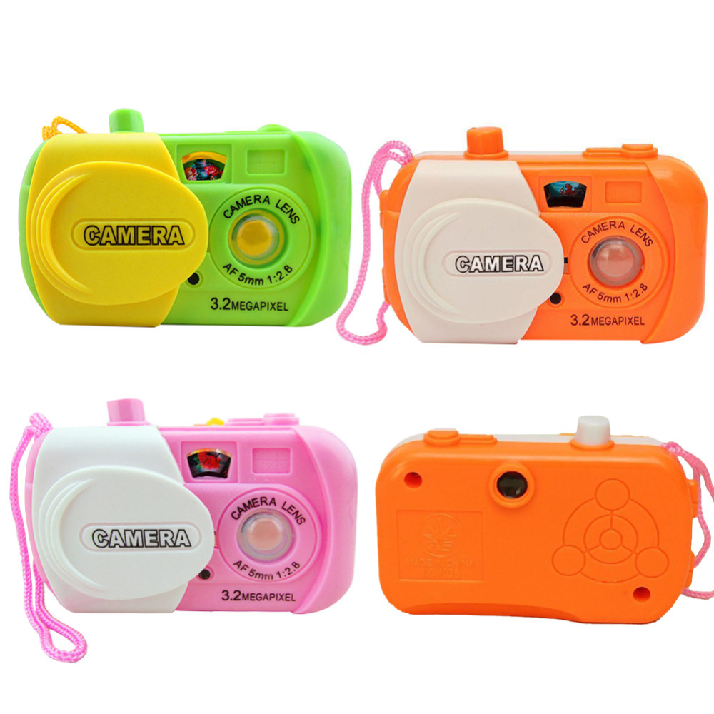 1pcs Cute Baby Kids Study Digital Camera Toy Projection Camera For Kids appareil photo Educational Children's Toys Cheap Z2(China (Mainland))