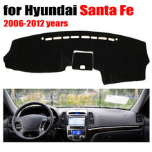 Car dashboard covers mat for Hyundai Santa Fe 2006-2012 years Left hand drive dashmat pad dash cover auto dashboard accessories(China (Mainland))