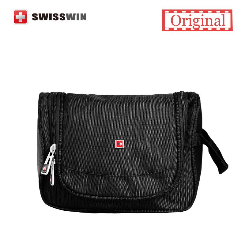 Swisswin Makeup Organizer Waterproof Toiletry Bag Travel Cosmetic Bags Hanging Bathroom Toiletry Kit For Necessaries(China (Mainland))