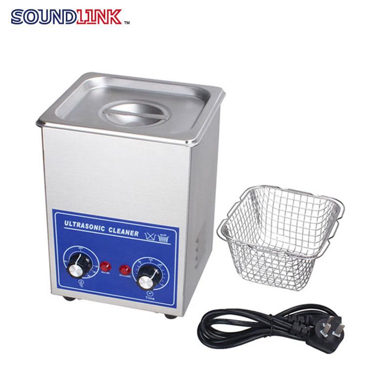 Digital Ultrasonic Cleaner 2L 70W PS-10 Stainless Steel washing basket Knob Control Heating Mini Ultrasonic Washing Machine(China (Mainland))