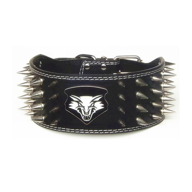 High quality dog collar Sharp Spiked Studded Leather Dog Collars pet collar harness shepherd dog