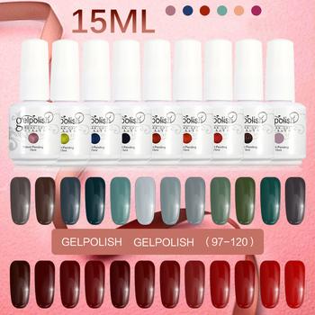 2016 15ml Gel Nail Polish Soak Off Matte Nail Polish Gelpolish Manicure For Nails Gel UV Bling Color