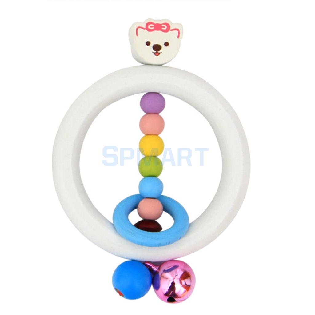Cute Bear Wood Rattle Grasping Baby/Child Wooden Activity Toy(China (Mainland))