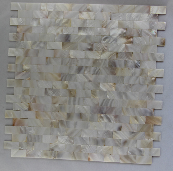 Witte Keuken Kleur Muur : witte kleur shell moza?ek tegel keuken badkamer slaapkamer vloer muur