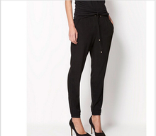 Hot Sale New 2015 Brand Casual Women Pants Solid Color Drawstring Elastic Waist Comfy Full Length