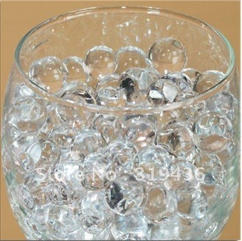 popular novelty decoration crystal water beads pearl gel ball for vase/aquarium decoration(12 color water crystal gel bead pearl