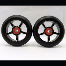 Buy 2 wheels! Free shipping! Thick PU high stunt scooter wheels / wheel roller skis / scooter wheels 100mm/ ABEC-9 bearings for $20.70 in AliExpress store