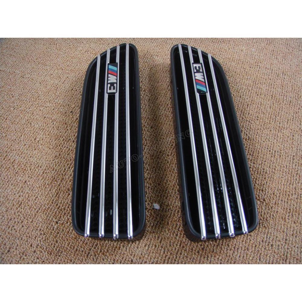 Пара ABS Chomed E46 м3 стиль боковая дверь крыло отверстия переднего крыла забора воздуха для bmw ( подходит : 01 - 06 E46 M3 / суп )