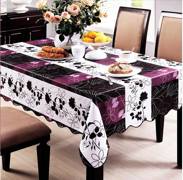 PVC Tablecloth Waterproof Prevent Oil Free Wash Fashion High-end Restaurant Supplies E18(China (Mainland))