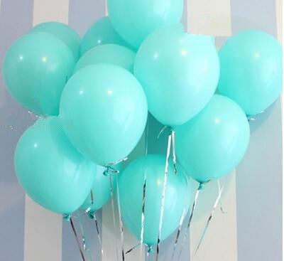 50pcs/lot 2.3g Latex balloon Helium Pearl Tiffany blue balloons Wedding globos Party Birthday Balls Classic toys christmas gift(China (Mainland))