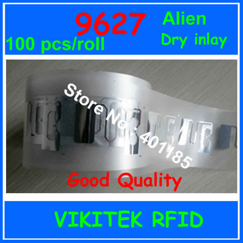 Alien authoried  9627 UHF RFID inlay 100pcs per roll 860-960MHZ Higgs3 915M EPC C1G2 ISO18000-6C can be used to RFID tag label<br><br>Aliexpress