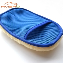 Car-styling Wool Soft Car Washing Gloves Cleaning Brush Motorcycle Washer Care Products 2 In 1 Brushes Tool(China (Mainland))