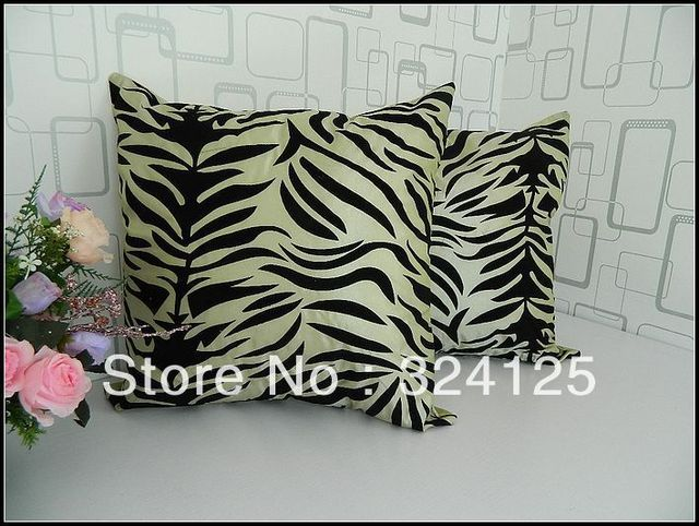 "Wholesale Free Shipping 5pieces Classic Fashion Suede Fabric cushion cover/Zebra Veins pillowcase Cushion cases18 "" 45X45CM"