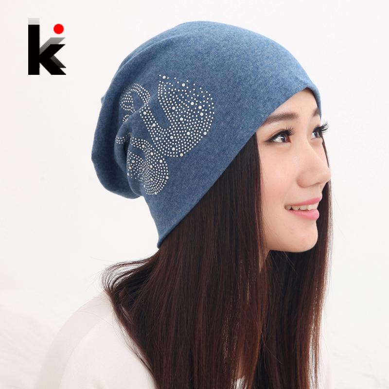 Free shipping autumn and winter beanies diamond The swan turban cap skullies hip-hop stocking hat for women men bonnet 6 colors(China (Mainland))