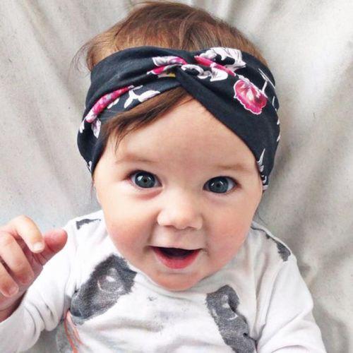 1 ШТ. Девочки Младенец Дети Малышей Новорожденных Цветок Boho Лентой Крест Повязка ...