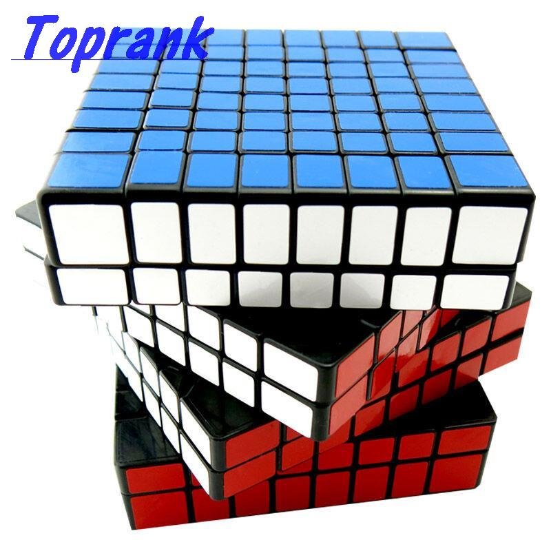 Toprank ShengShou 8x8x8 8x8 Speed Cube Black / White Magic Puzzle Cubes Toys for Kids Adults with Additional Stickers SS-8J-PT(China (Mainland))
