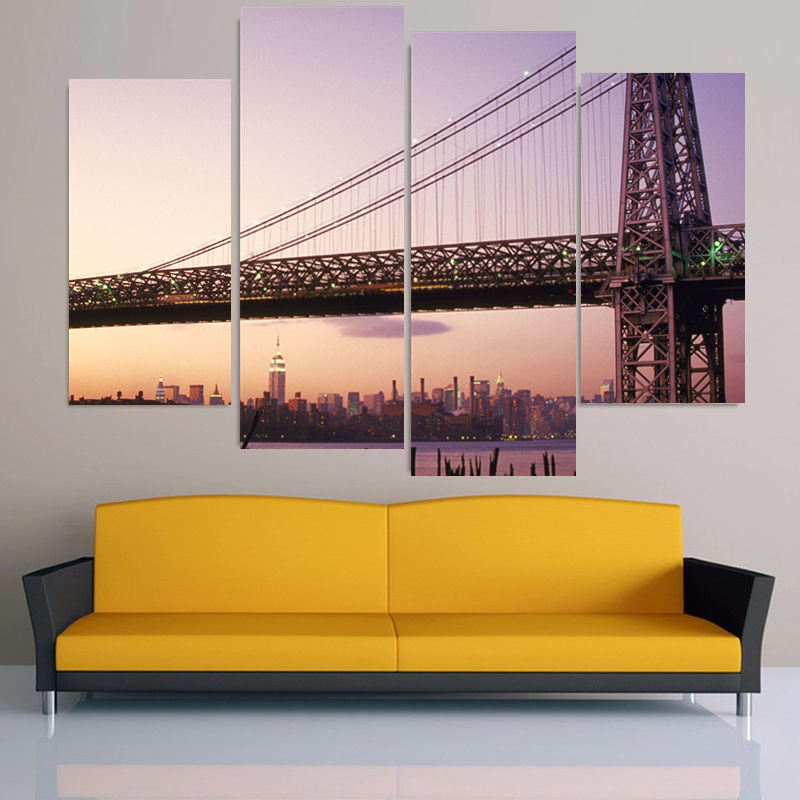 2016 Sale 5Pcs Tokyo Bay Modern Painting Cuadros Decoracion Painting On Canvas Wall Art Home Decor Modular Pictures (unframed)