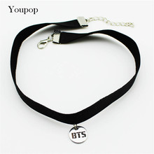 Buy Youpop KPOP BTS Bangtan Boys Album Chokers Necklace Korean Fashion Jewelry Accessories Rock Collar Men Women Boy Girl X5000 for $1.50 in AliExpress store
