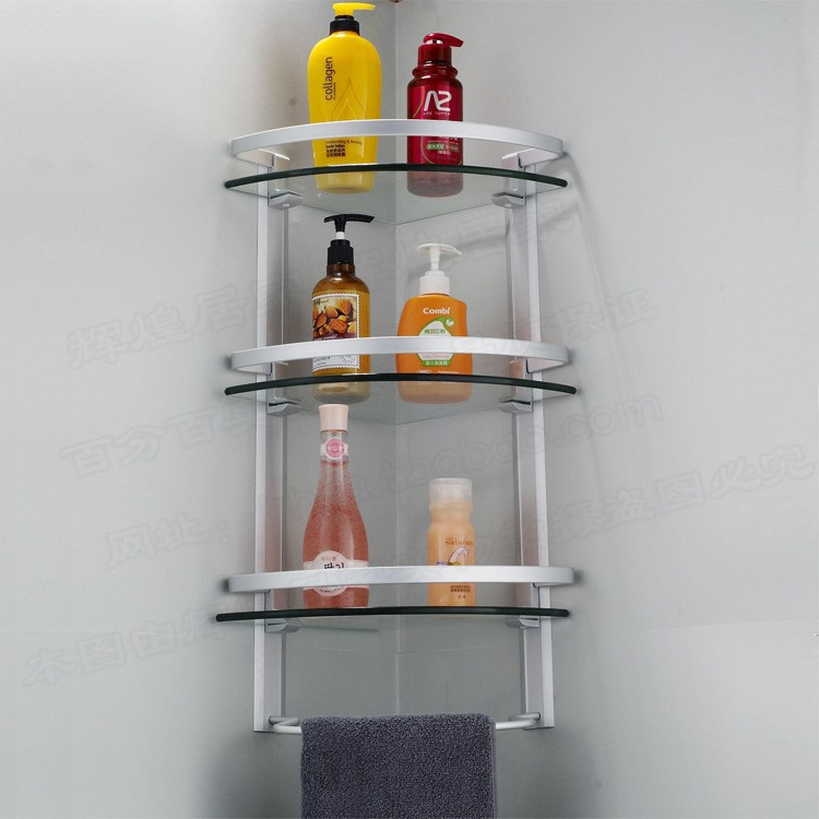 Original Bathroom Accessories Bathroom Shelf Space Aluminum Double Layer