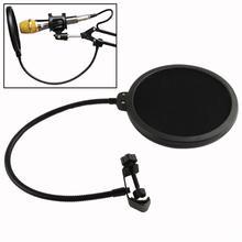 двойной студийный микрофон записи микрофон слой маски экрана ветра уклонялся караоке поп-фильтр EN4107