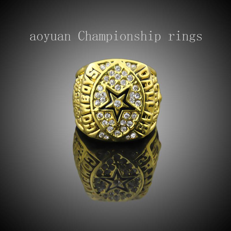 aoyuan Championship rings,NFL 1992 Dallas Cowboys Super Bowl Champion Rings, sports fans rings, men gift ring.(China (Mainland))