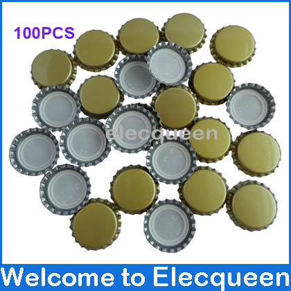 100pcs/lot Beer bottle cap beer lid for DIY homebrew beer tool Free shipping(China (Mainland))