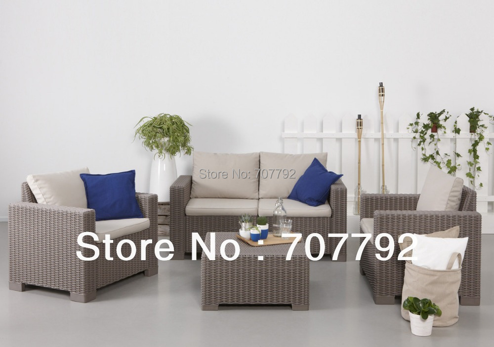 2016 Best Sale California Lounge Outdoor Poly Rattan Furniture Sofa(China (Mainland))
