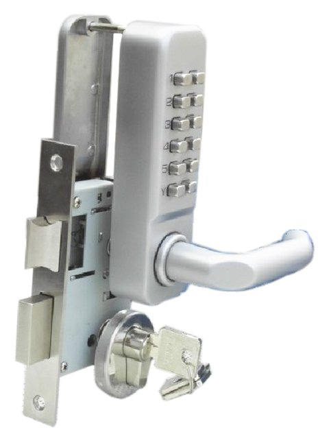 Free Shipping  KEY Mechanical Digital Door Lock(China (Mainland))