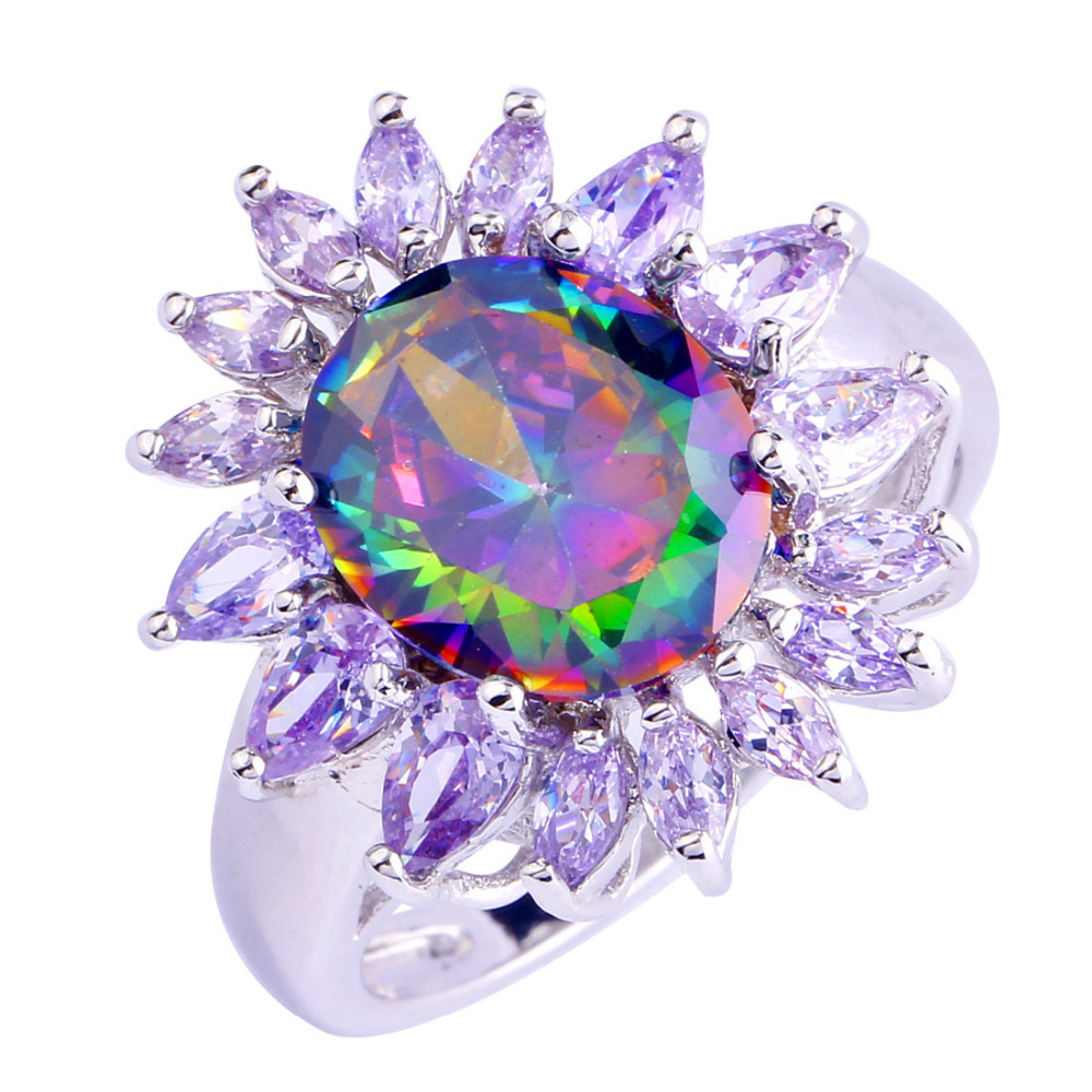 sunflower style fashion rings jewelry multi color