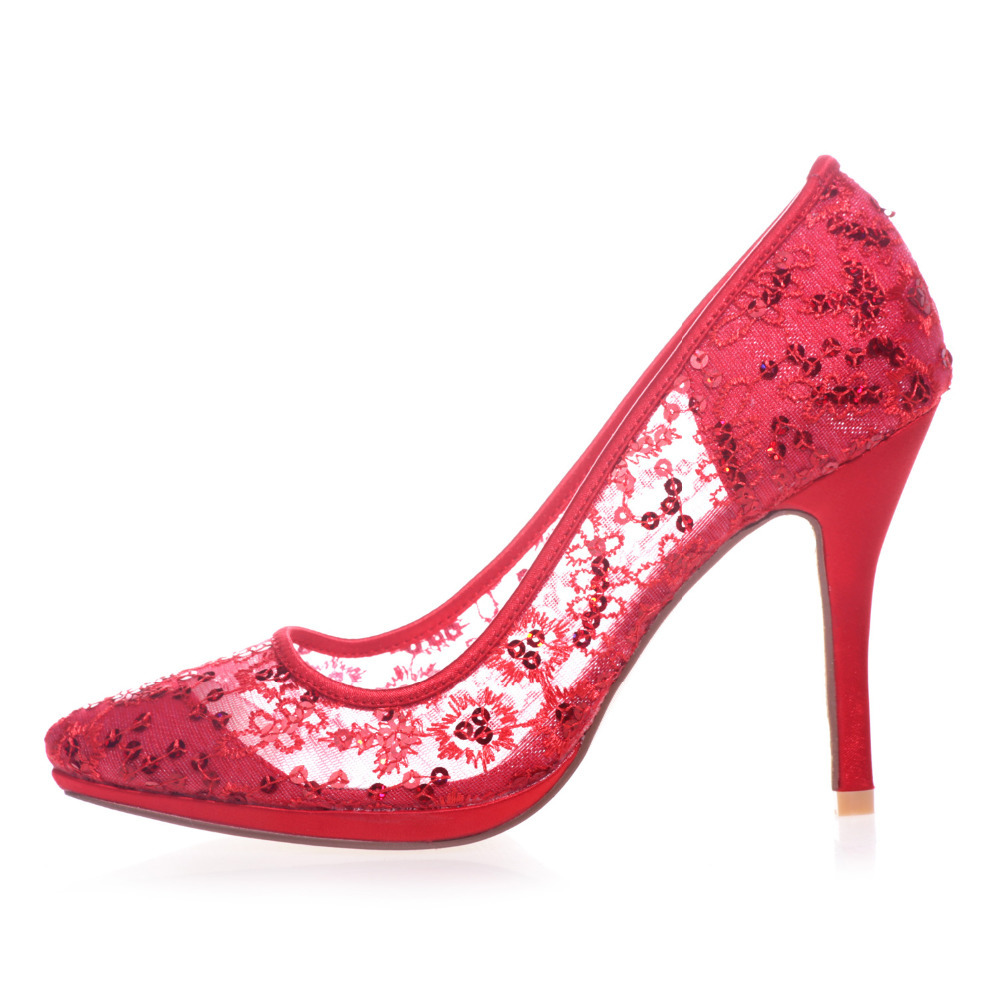 Red Prom High Heels