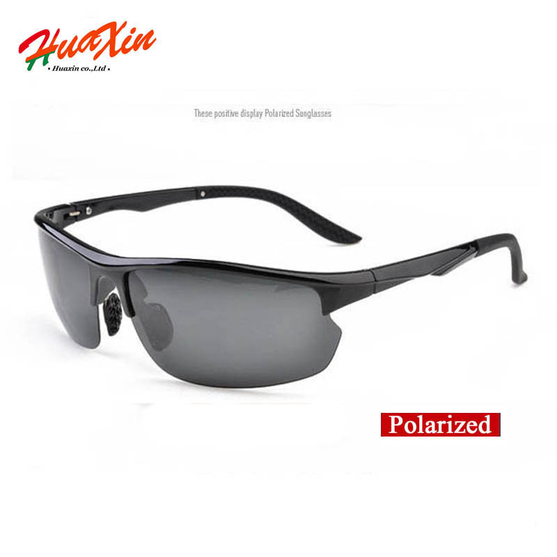 Polaroid Sunglasses Men Polarized Driving Sun Glasses Black Frame with grey lens Male Sunglasses oculos de sol masculino(China (Mainland))